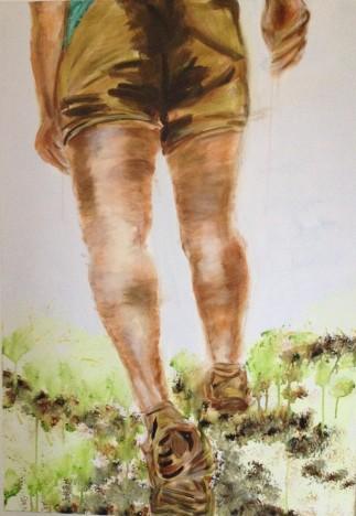 Rundgang 2014 100x70 Acryl auf Leinwand
