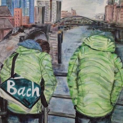 Bach 2015 100x100 Acryl auf Leinwand