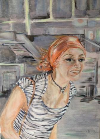 Franziska 2014 100x70 Acryl auf Leinwand